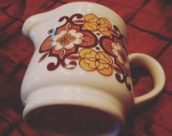 Vintage Creamer by Sadler. Retro floral