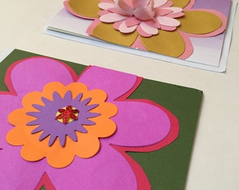 Flower Power – Set of 4 Blank Cards