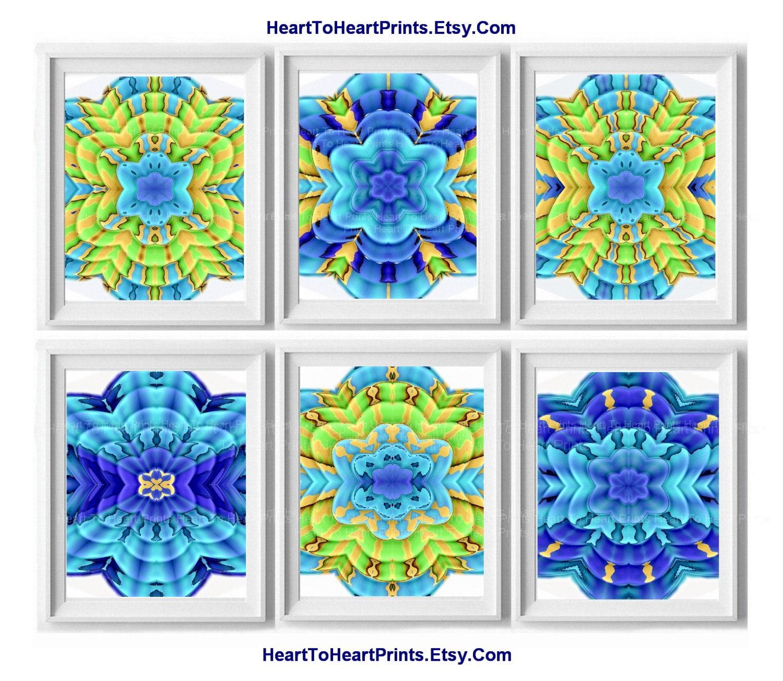 Beach house decor floral lime green aqua by hearttoheartprints for Beach house designs florist