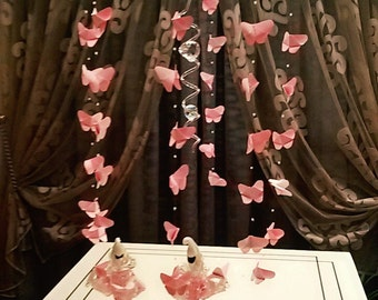 origami butterflies to hang, origami butterfly, butterfly christening/wedding favor, favor mobile