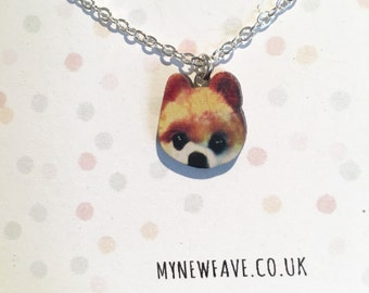 Pomeranian Necklace, Pomeranian jewellery, dog necklace, pet, dog, animal jewellery