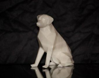 3D printed low poly labrador