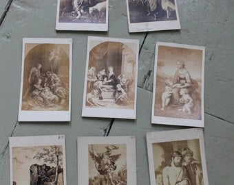 Set of 8 Antique Spanish and French Lithograph Prints by J. Gautier and Bulla Freres circa 19th Century