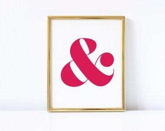 Pink Ampersand Digital Download Print