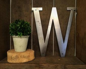 """Metal Letter - """"W"""""""