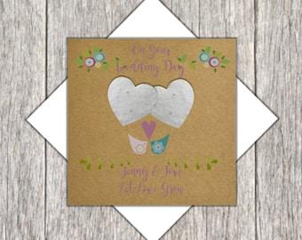 Plantable Seed Heart Wedding Card