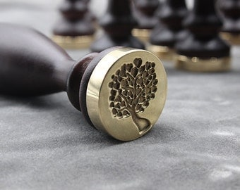 sealing wax stamp-heart tree