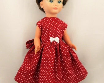 Red dolls dress