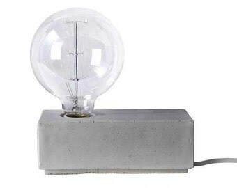Lamp base cube cement