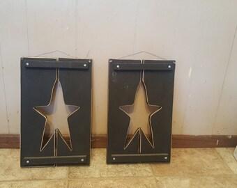 star shutter decor
