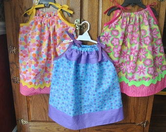 Pillowcase Dresses of Little Girls, Toddler, and infants