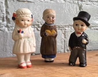 Vintage 1940's bisque Kewpie wedding cake toppers/ dolls