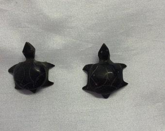 Handmade Horn Turtles. 10 pieces.