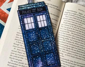 Doctor Who Galaxy TARDIS Bookmark