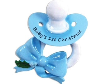Boys Baby's 1st Christmas Personalized Christmas Ornament