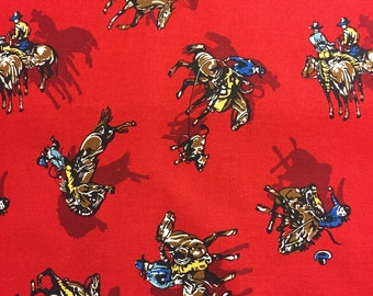 Red Cowboy Fabric