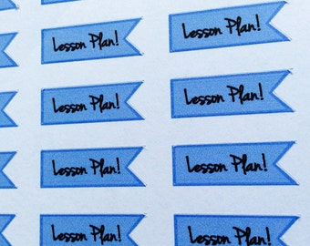 Lesson plan Planner Stickers