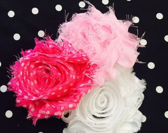 Pink Shabby Chic Hair Bow