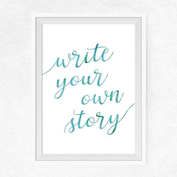 Write my own story