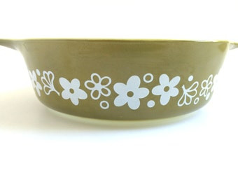 Crazy Daisy Pyrex - Spring Blossom Pyrex - Pyrex 471 - Crazy Daisy Pyrex 471 - Pyrex Casserole Dish - Crazy Daisy Casserole Dish