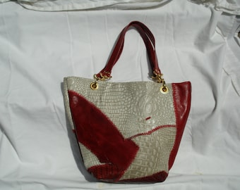 Handcrafted Scrap Leather Tote