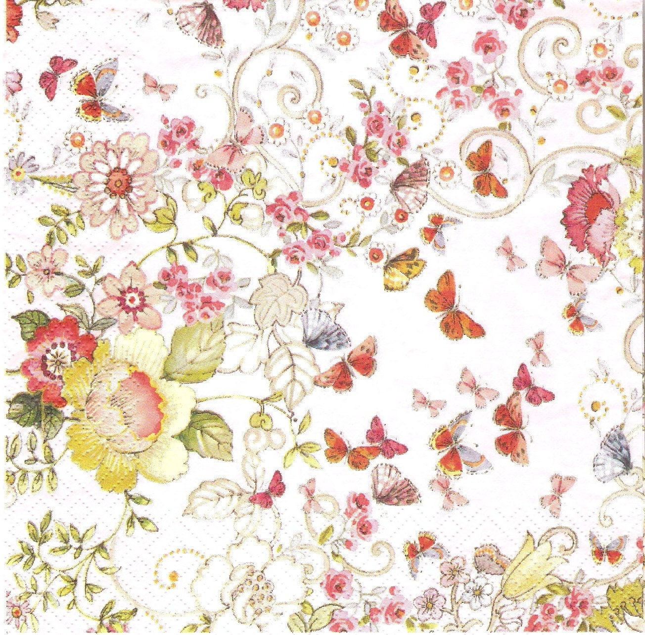 floral paper napkins Floral themed paper napkins that will enhance and disposable tableware set get all your pretty plastic wine cups at wwwposhpartysuppliescom.