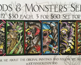 3 Set: Gods & Monsters Series