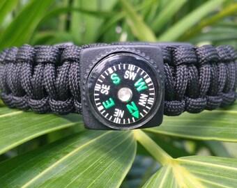 Paracord Survival Bracelet, Paracord Bracelet, Survival Bracelet, Paracord, Tactical Bracelet, Paracord Flint, Whistle, Survival, Compass