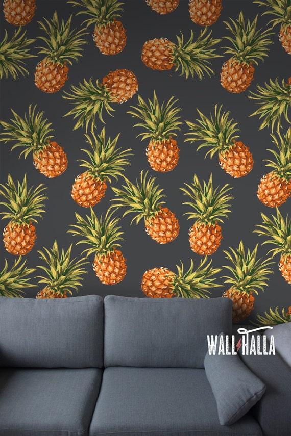 Seamless Self Adhesive Pineapple Pattern Wallpaper by ...