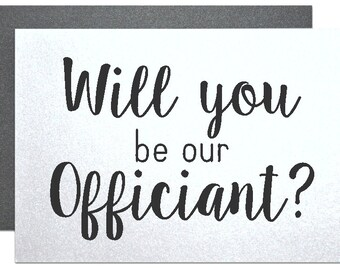our officiant gift, wedding officiant, wedding card to ask officiant ...
