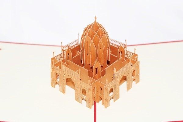 3D Taj Mahal Pop Up Card, Pop Up Greeting Card, Happy B