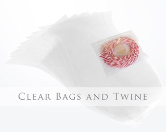 Clear bags and twine