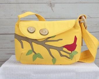 Yellow Bird Purse