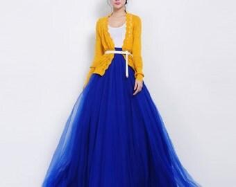 Maxi skirt royal blue