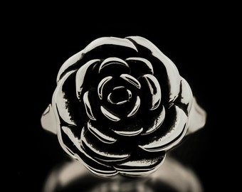 Rose Ring Sterling Silver Flowers Roses Jewelry