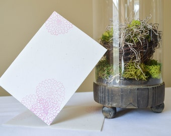Flower Greeting Card // Pink Flowers Card // Cluster of Flowers Card