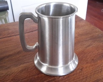 Pewter Tankards/Beer Mugs, Two Sets of Two