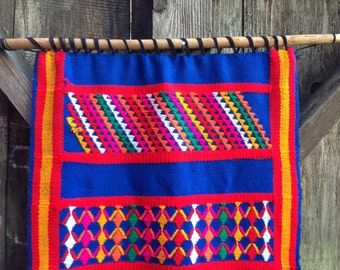 Rainbow Central American Hand Woven Tapestry