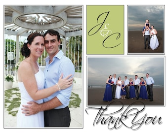 Initial Thank You Card | Card | Wedding Card | Thank You Note | Thankyou Note | Thank you | Thankyou | Wedding Note
