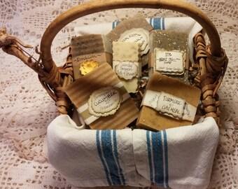 Natural Herb Cold Processed Soap Basket