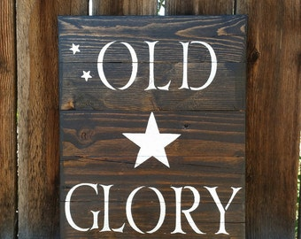 Old Glory Reclaimed Barn Wood Sign