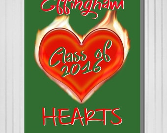 """Personalized """"Class of"""" Graduation Print (Canvas or Metal)"""