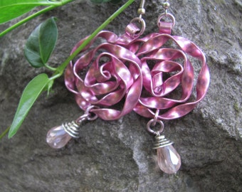 statement earrings, Handmade jewelry, huge earrings painted aluminum strips , DO NOT CORRODE