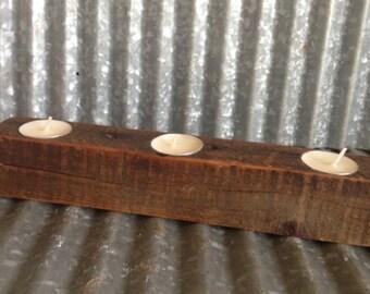 Reclaimed Barn Wood Tea Light Holder
