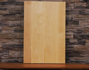 Solid Maple Hardwood Table Top, finished and ready for the legs or base of your choice. Perfect for console or coffee table. #1005