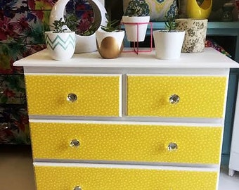 Elegant Polkadot Chest Of Draws