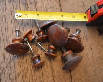 Nine Wooden Drawer Knobs