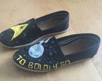 Star Trek Hand Painted Canvas Shoes