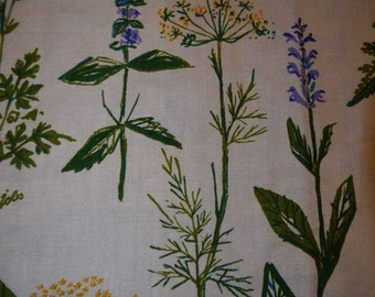 Fabric - Craft - Gamlestaden of Sweden - Lisbet Jobs - Leksand - Handprint - Kitchen plants