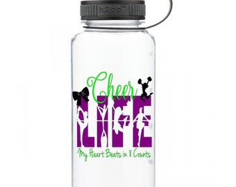 Cheer Life, Cheerleader Personalized Water Bottle